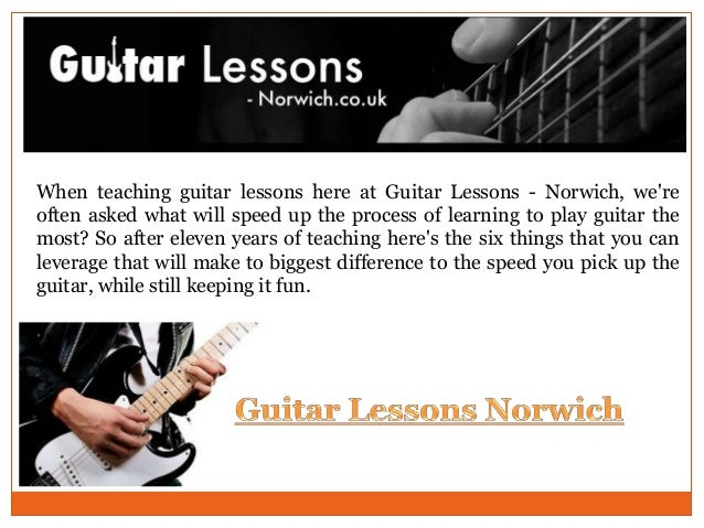 When teaching guitar lessons here at Guitar Lessons - Norwich, we're often asked what will speed up the process of learnin...