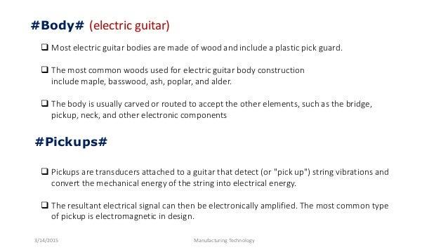 Guitar presentation