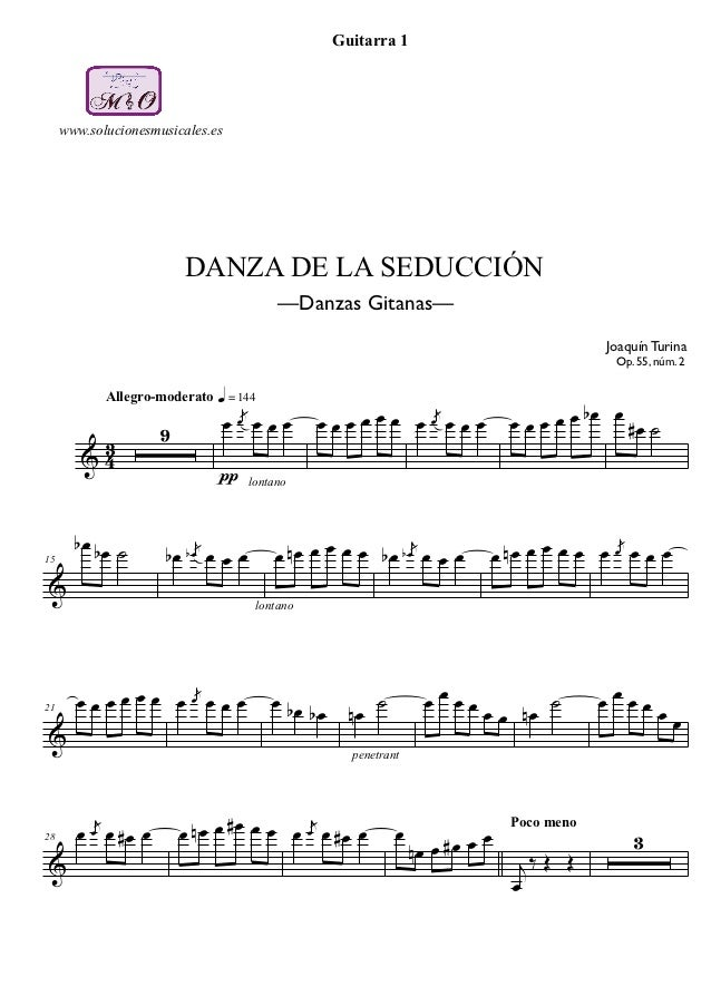 Guitarra 1     www.solucionesmusicales.es                          DANZA DE LA SEDUCCIÓN                                  ...