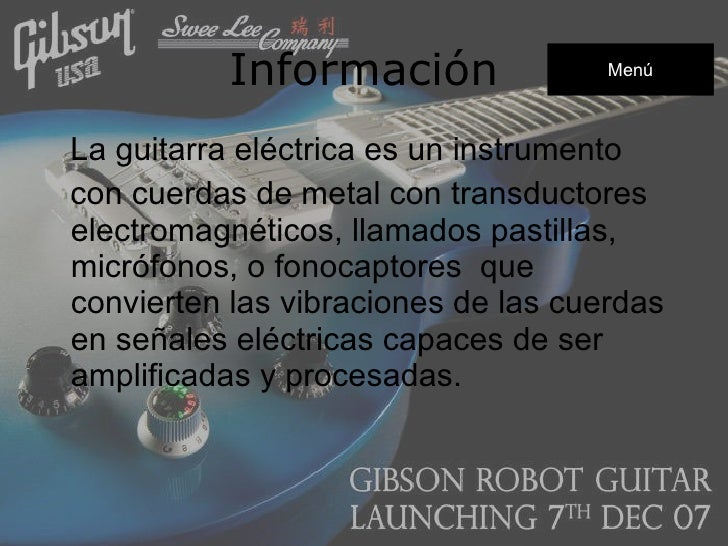 Guitarra electrica Slide 3