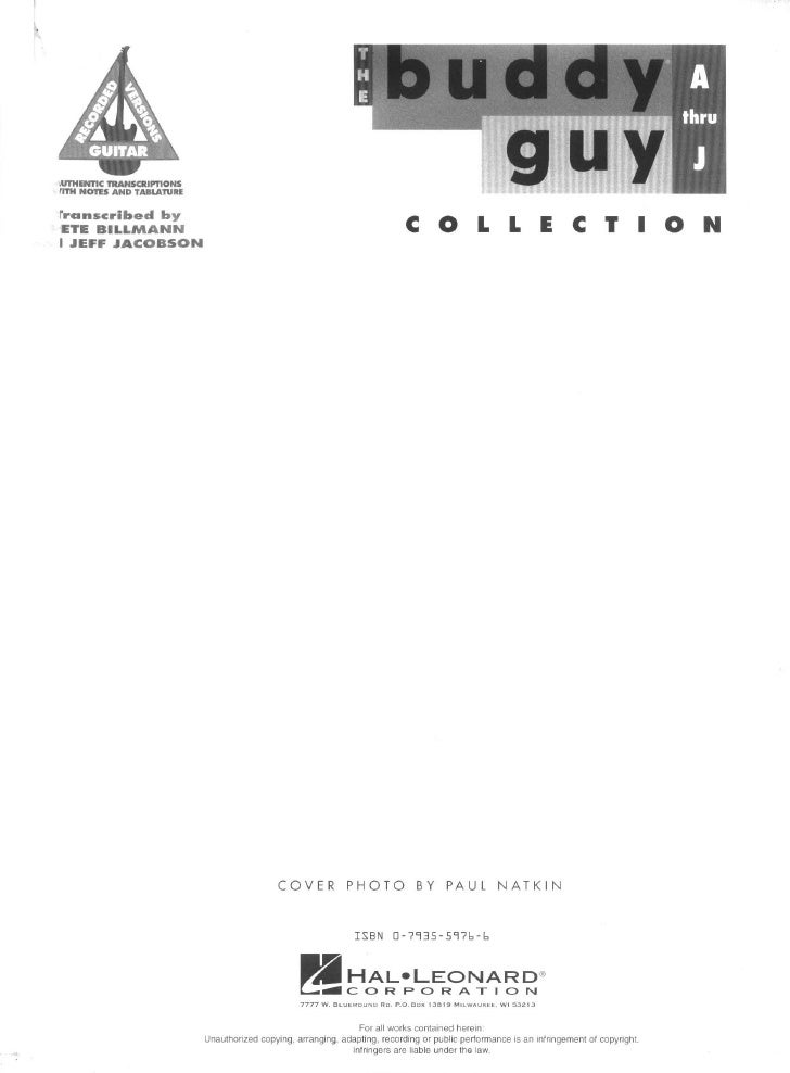 Buddy Guy - A thru J Collection (Song Book)