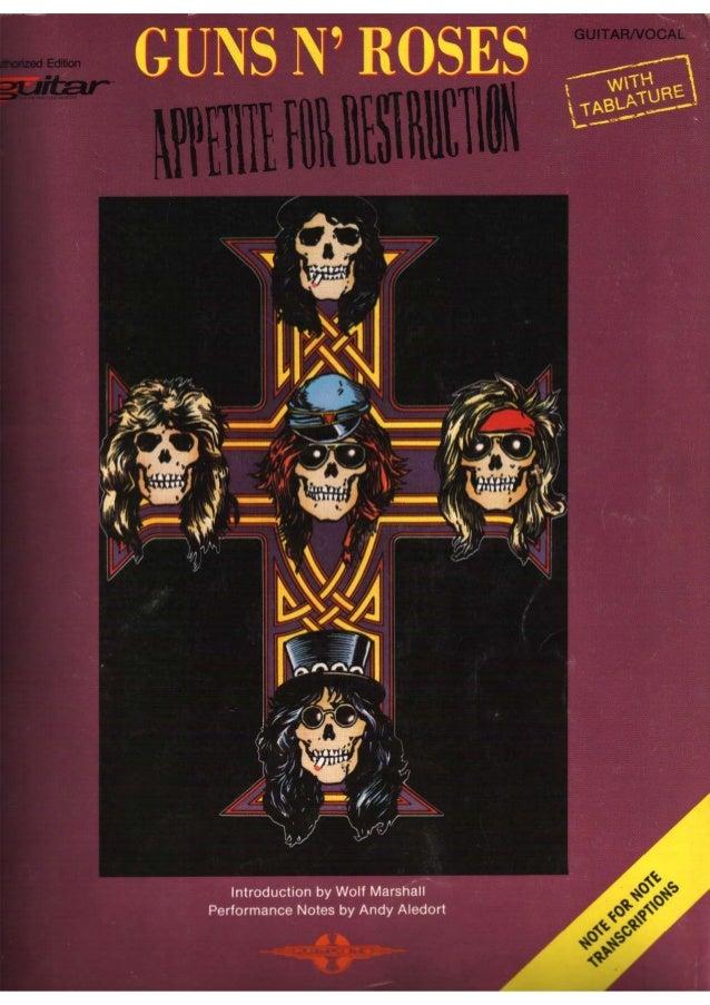 Libro de Tablaturas para guitarra de Guns and Roses