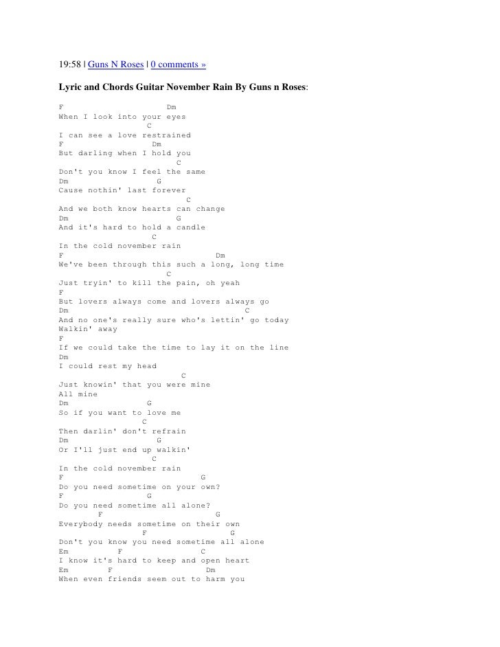 November rain guitar chords 7687145 - es-youland.info