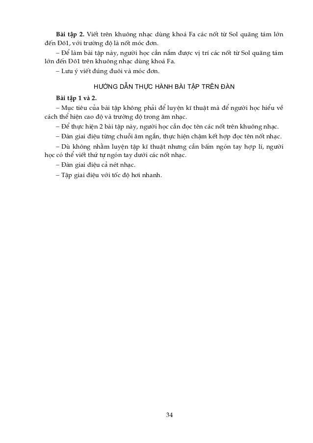 Bμi tËp 2. ViÕt trªn khu«ng nh¹c dïng kho¸ Fa c¸c nèt tõ Sol qu·ng t¸m lín ®Õn §«1, víi tr−êng ®é lμ nèt mãc ®¬n. − §Ó lμm...