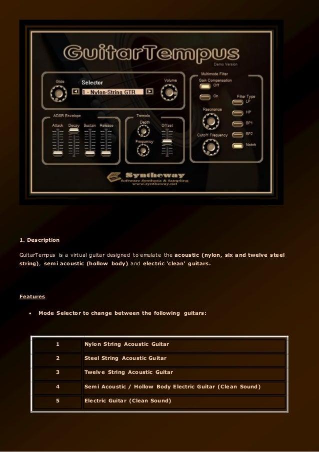 guitartempus virtual guitar vst guitartempus nylon six and twelve. Black Bedroom Furniture Sets. Home Design Ideas