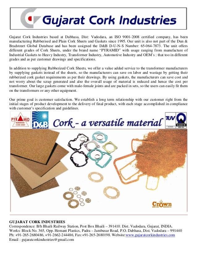 Gujarat Cork Industries & Baroda Cap Liners, Vadodara