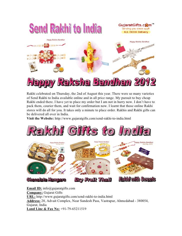 Gujarat Gifts our Collection of Send Online Rakhi to India free Shipping