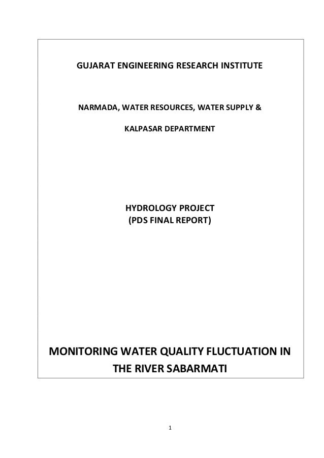 1 GUJARAT ENGINEERING RESEARCH INSTITUTE NARMADA, WATER RESOURCES, WATER SUPPLY & KALPASAR DEPARTMENT HYDROLOGY PROJECT (P...