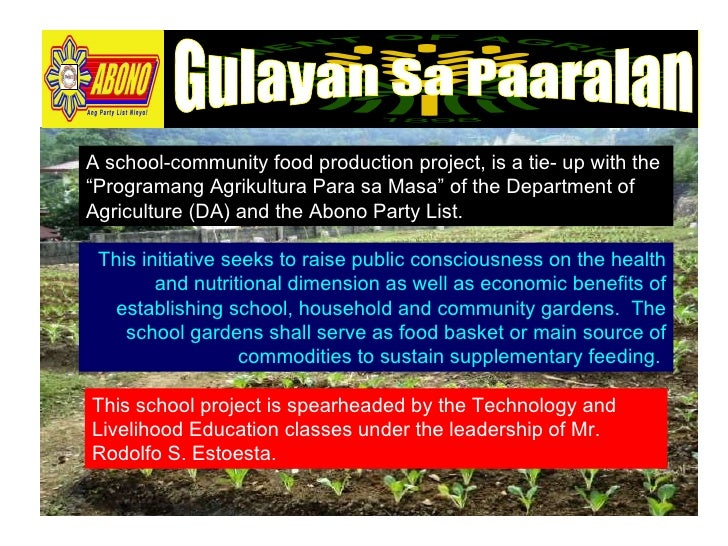2018 Search for the Outstanding Implementers of the Gulayan sa Paaralan Program