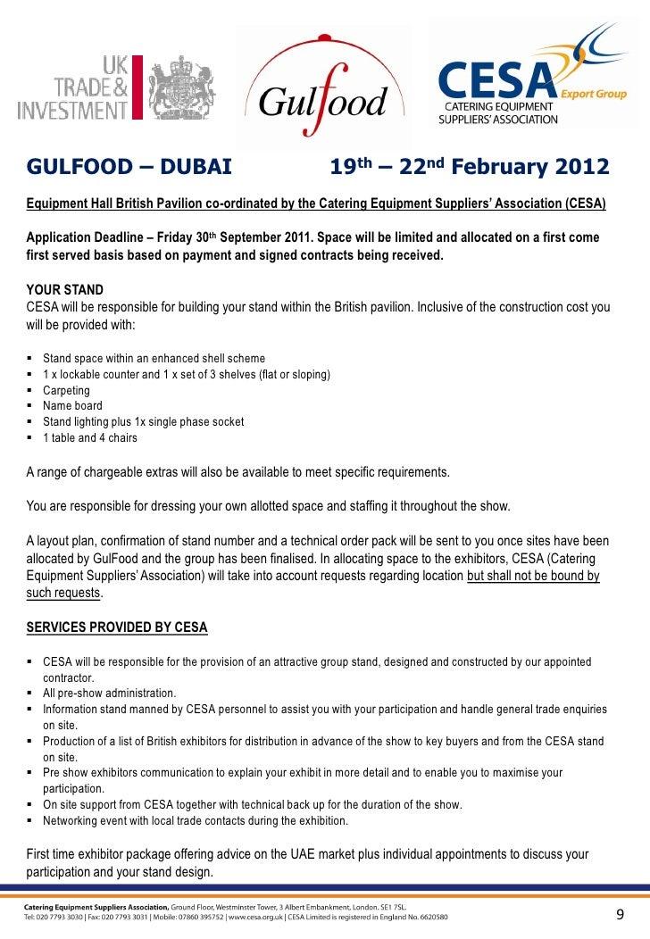 CESA Gulfood 2012 Brochure