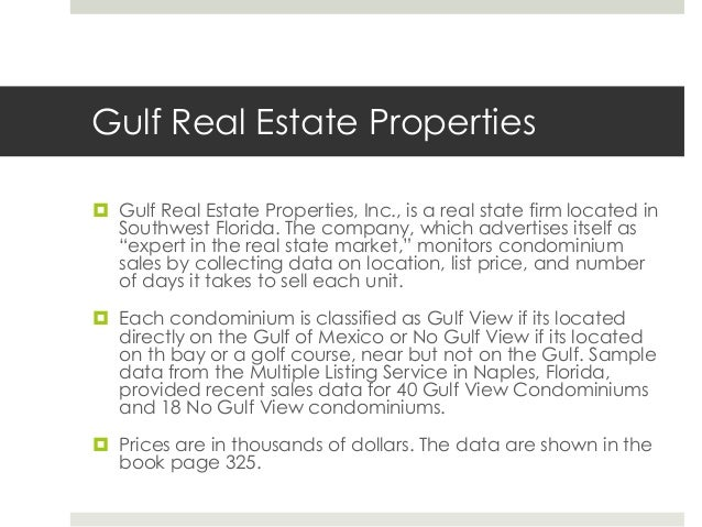 case 2 answers 1 - Case 2 Gulf Real Estate Properties ...