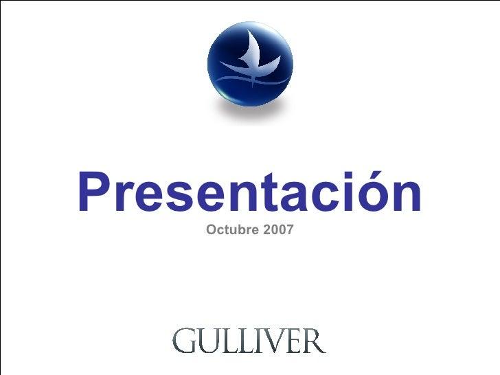 Presentación Octubre 2007