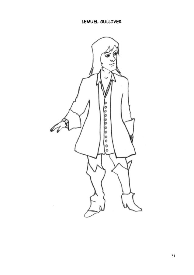 character sketch of gulliver Character sketch (emperor): html the emperor - the ruler of lilliput like all lilliputians, the emperor is fewer than six inches tall his power and majesty impress gulliver deeply, but to us he appears both laughable and sinister because of his tiny size, his.