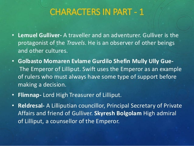 an analysis of satirical elements in gullivers travel by jonathan swift Critical analysis of gulliver's travels  the gulliver's travel written by jonathan swift  the treasurer in lilliput is a satirical portrayal of sir.