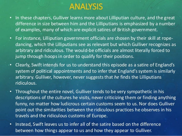 Gulliver S Travel Summary Chapters