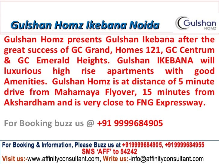 Gulshan Homz Ikebana NoidaGulshan Homz presents Gulshan Ikebana after thegreat success of GC Grand, Homes 121, GC Centrum&...