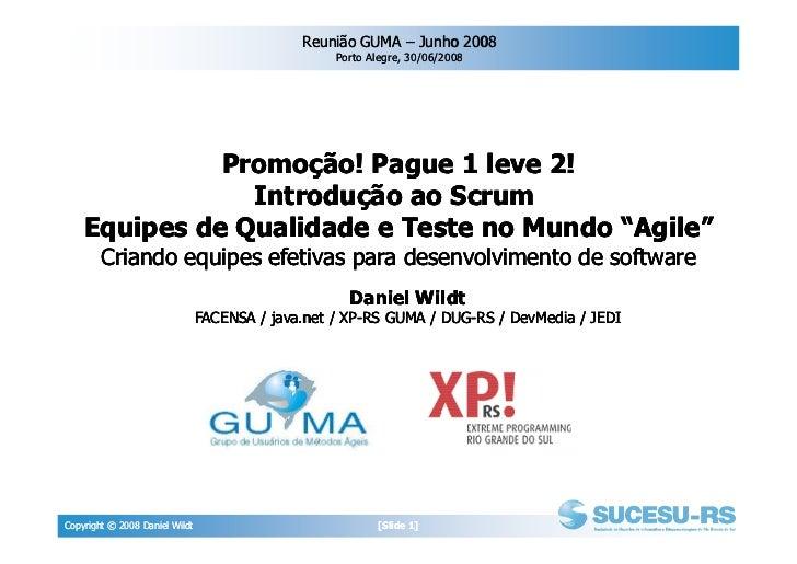 Reunião GUMA – Junho 2008                                                    Porto Alegre, 30/06/2008                   Pr...