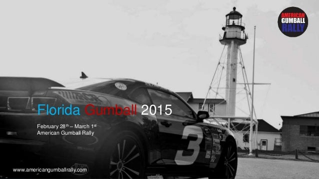 Gumball Florida Sponsorship packages