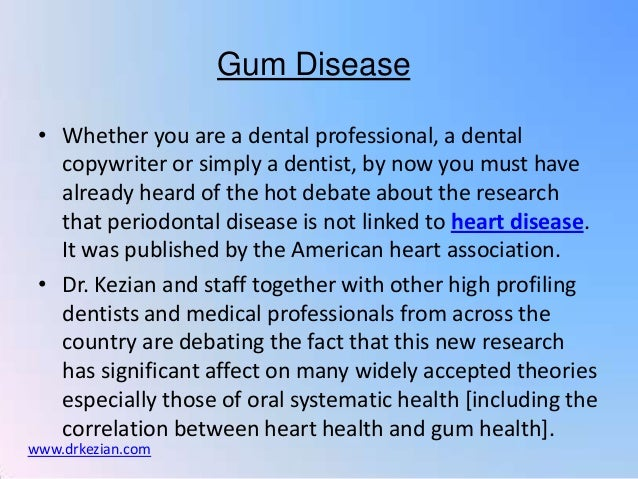 Gum Disease • Whether you are a dental professional, a dental   copywriter or simply a dentist, by now you must have   alr...