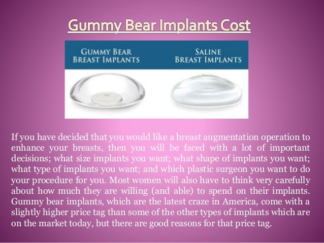How much do gummy bear implants cost