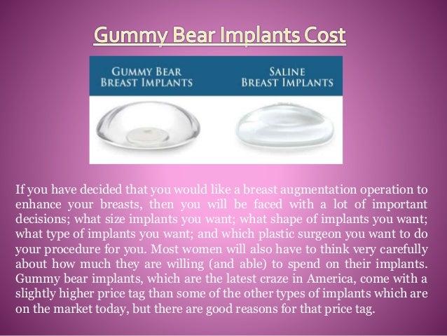Gummy bear breast implants price