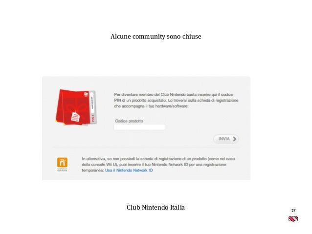27 Club Nintendo Italia Alcune community sono chiuse