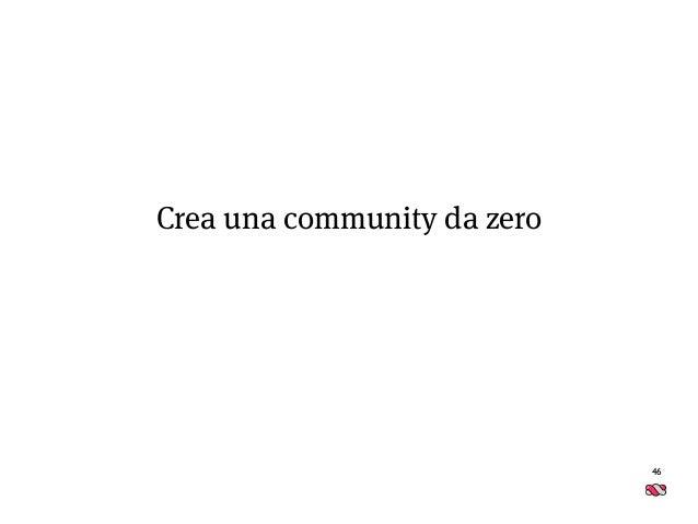 46 Crea una community da zero