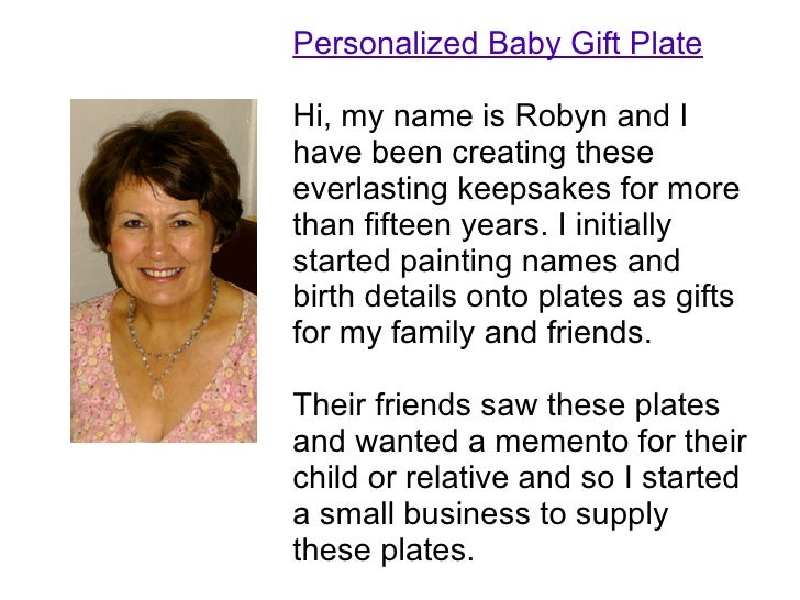 Personalized baby gift plates personalized baby gift plate hi my name is robyn and i have been creating these negle Image collections