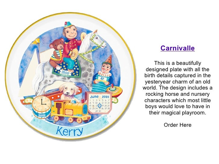 Personalized baby gift plates order here 3 negle Images