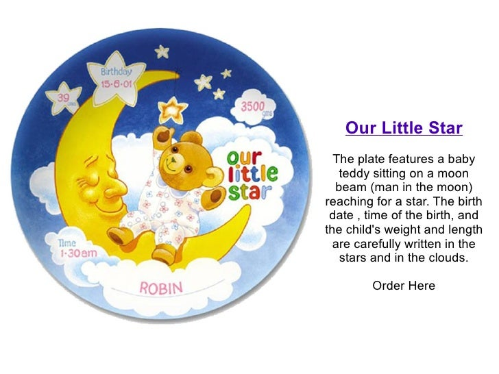 Personalized baby gift plates order here 5 our little star the plate features a baby negle Images
