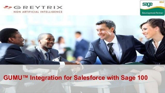 GUMU™ Integration for Salesforce with Sage 100