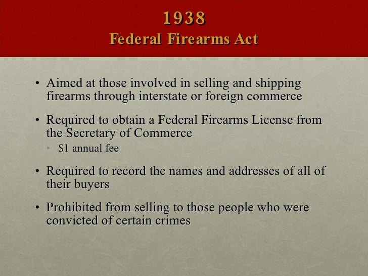 federal firearms act of 1938 pdf