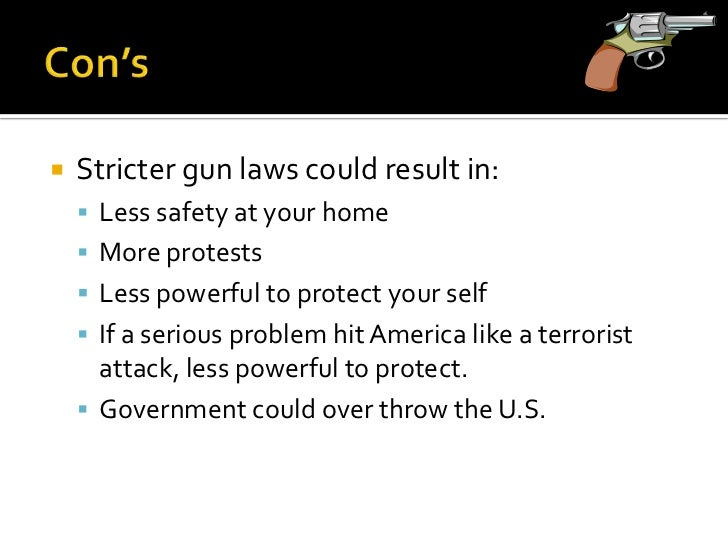 essay on stricter gun control laws Gun control in the united states has been a controversial issue over past years, especially in light of the recent events of the sandy hook elementary school.