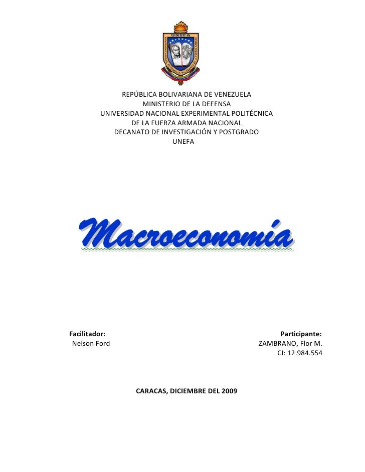 REPÚBLICA BOLIVARIANA DE VENEZUELA                     MINISTERIO DE LA DEFENSA          UNIVERSIDAD NACIONAL EXPERIMENTAL...