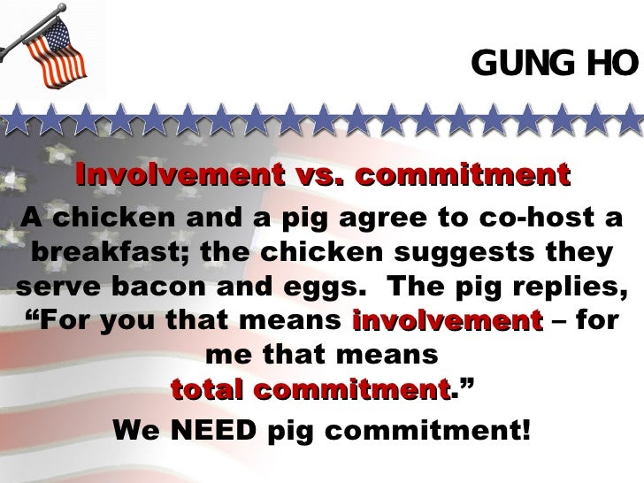 Commitment Chicken Pig Bacon Eggs: Gung Ho Book Report