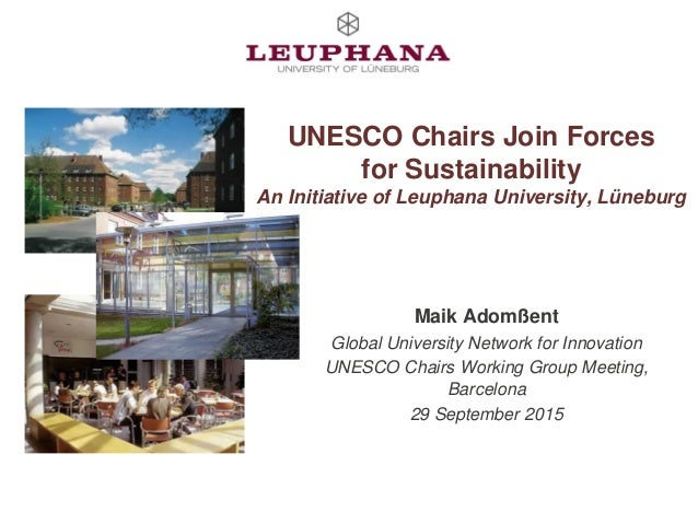 UNESCO Chairs Join Forces for Sustainability: An Initiative