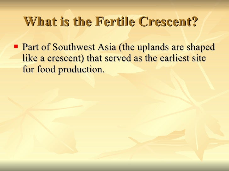 Fertile crescent in a sentence