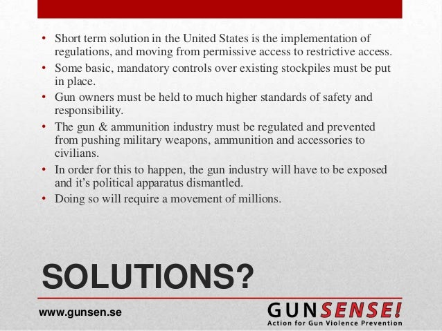 One solution to America's gun problem