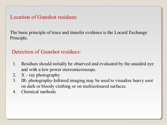 Gunshot Residue Forensic Analysis And Interpretation Ppt 03