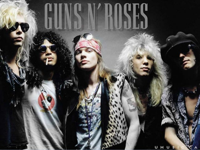 GUNS N' ROSES Guns N' Roses is an American hard rock band of Los  Angeles. Their music was influenced by other groups li...