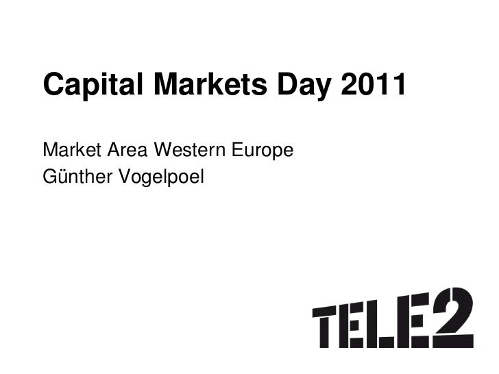 Capital Markets Day 2011<br />Market Area Western Europe<br />Günther Vogelpoel<br />