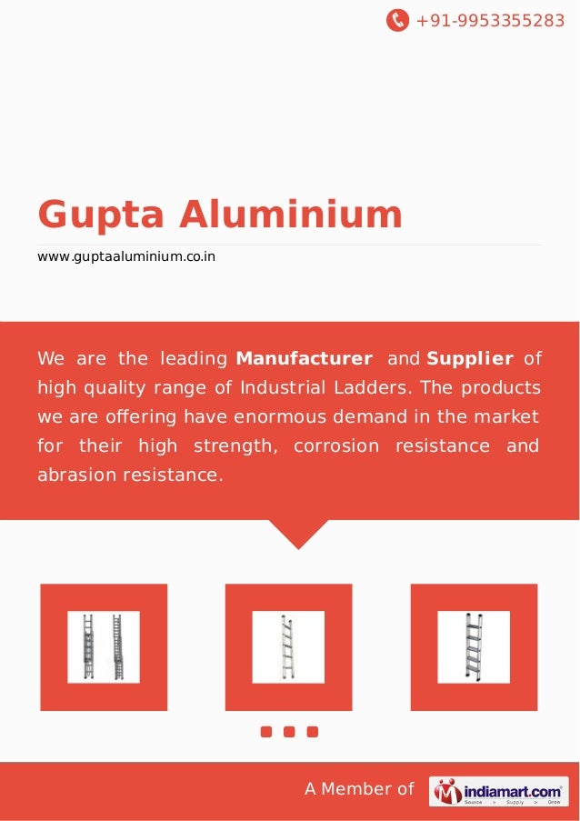 +91-9953355283  Gupta Aluminium  www.guptaaluminium.co.in  We are the leading Manufacturer and Supplier of  high quality r...