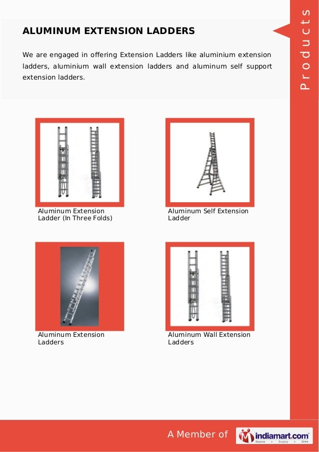 Aluminum Extension Ladders Slide 3