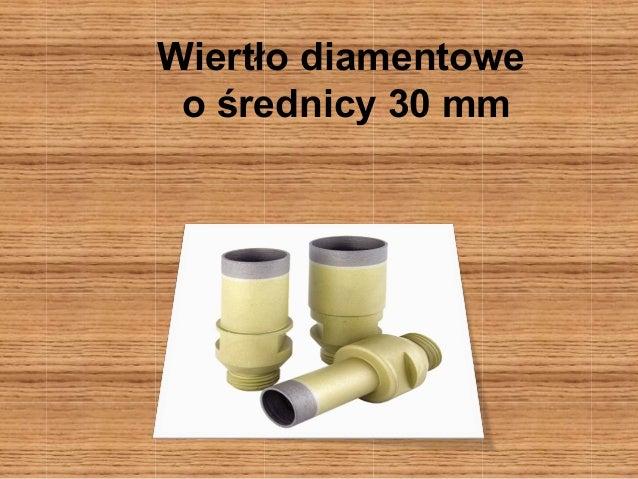 Wiertło diamentowe  o średnicy 30 mm