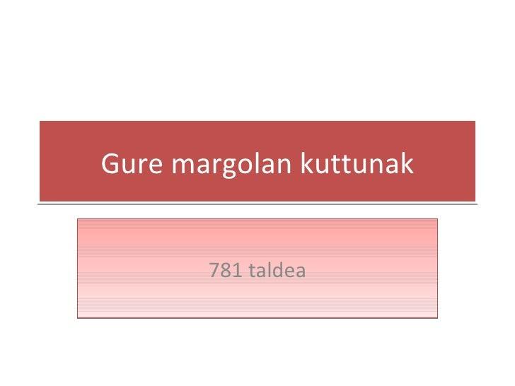 Gure margolan kuttunak 781 taldea