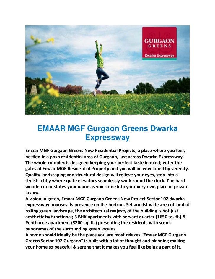 EMAAR MGF Gurgaon Greens Dwarka              Expressway                                         EmaarMGFGurgaonGreens...