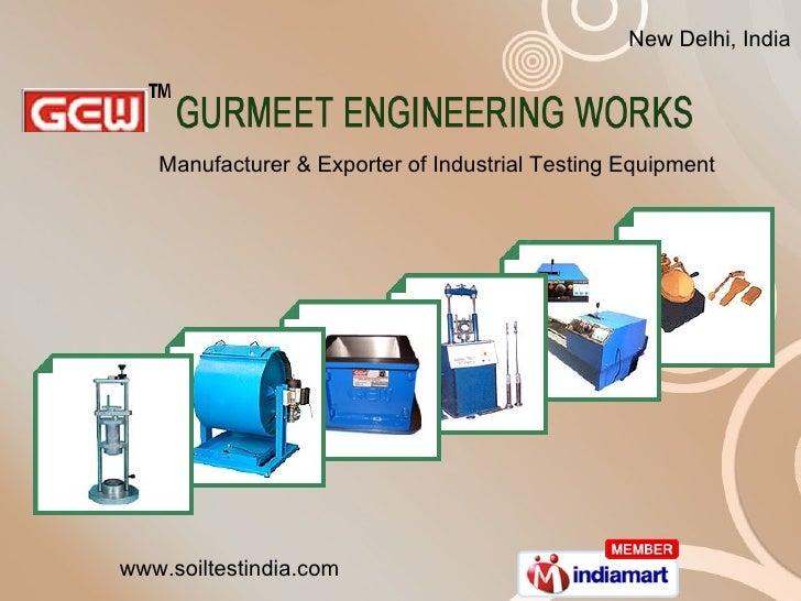 Manufacturer & Exporter of Industrial Testing Equipment New Delhi, India