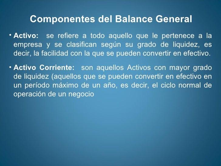 Estados Financieros Balance General