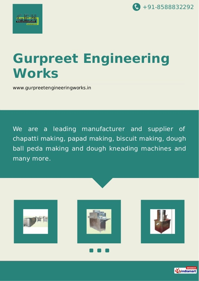 +91-8588832292 Gurpreet Engineering Works www.gurpreetengineeringworks.in We are a leading manufacturer and supplier of ch...