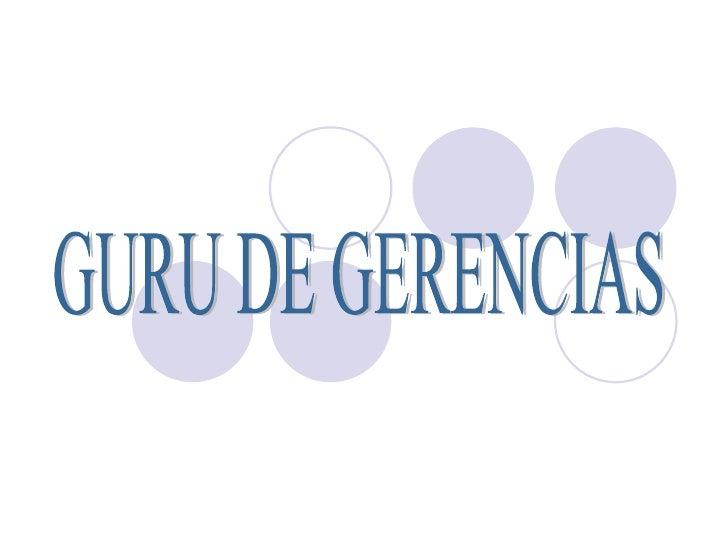 GURU DE GERENCIAS